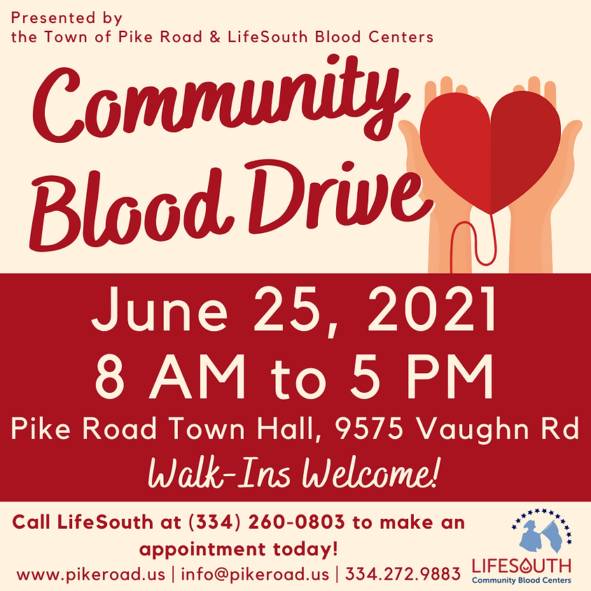 Community Blood Drive at Town Hall
