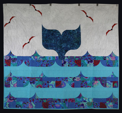 Whale's Tail Quilt by Beth Ellen Hardy