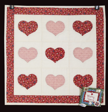 Appliqued Red Country Hearts Quilt by Bunny Rittenour Smith