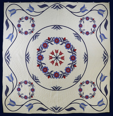 Pennsylvania Dutch Cheaters Quilt by Evielean Howell