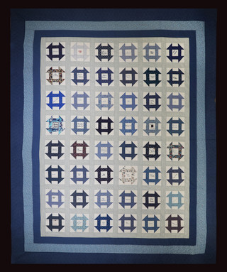 Blue Churn Dash Quilt by Bunny Rittenour Smith