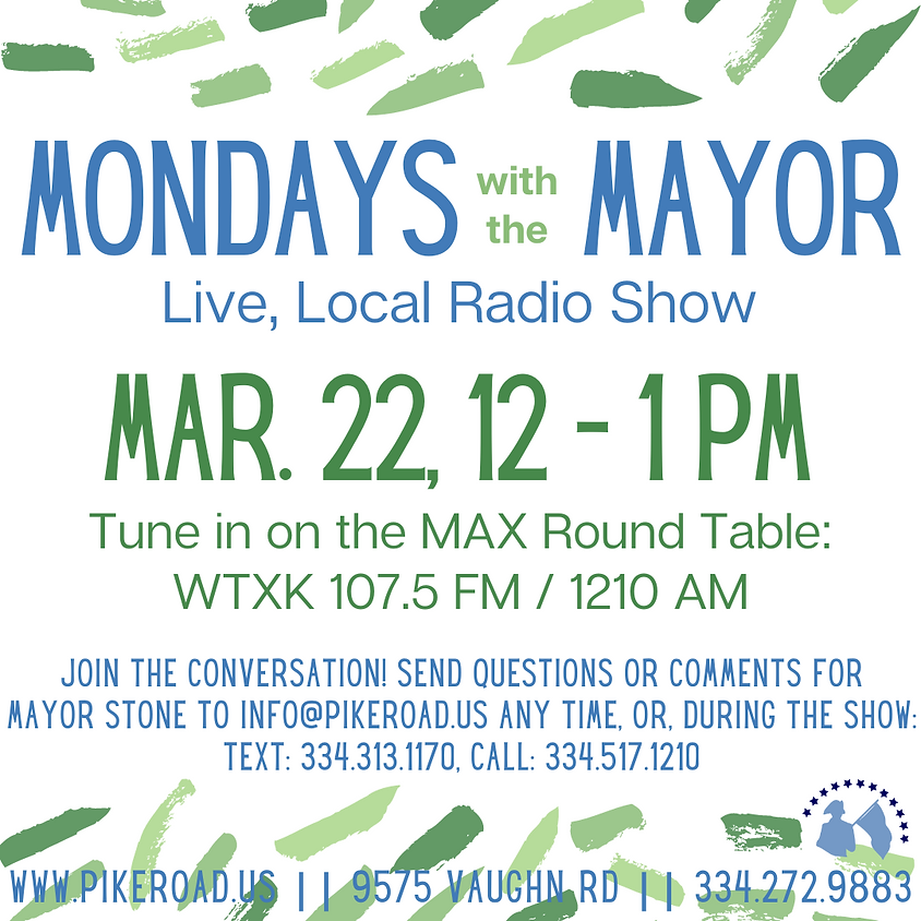Mondays with the Mayor Radio Show