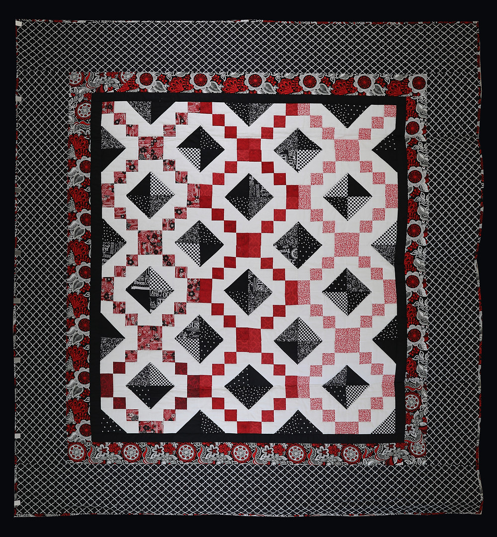 Red and Black Jewel Box Quilt by Charlene Rabren