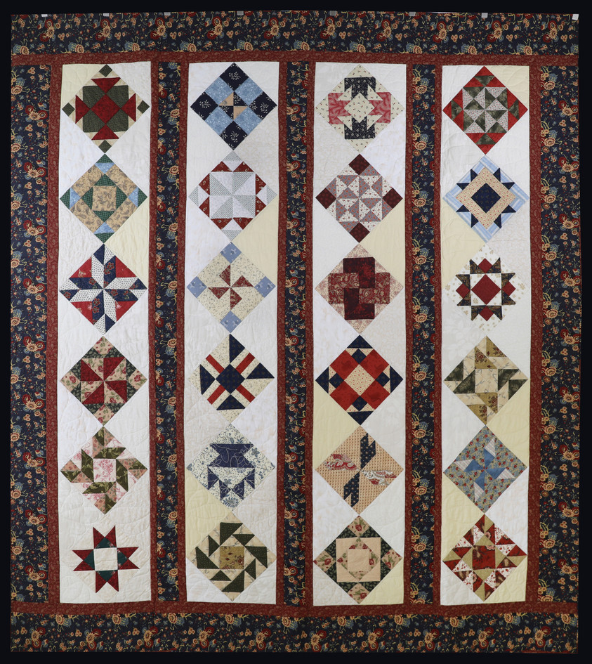 Square of the Month Patchwork Block Variety Quilt by Evielean Howell