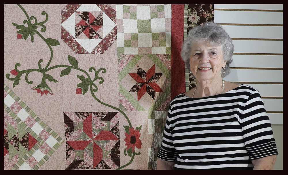 Evielean Howell with Quilt