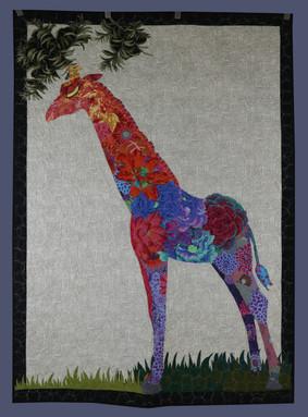 Potpourri Giraffe Collage Quilt by Beth Ellen Hardy