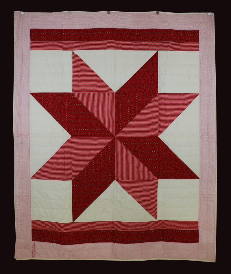 Red and Cream Star Quilt by Bunny Rittenour Smith