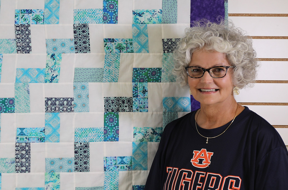 Janet Willingham and Quilt