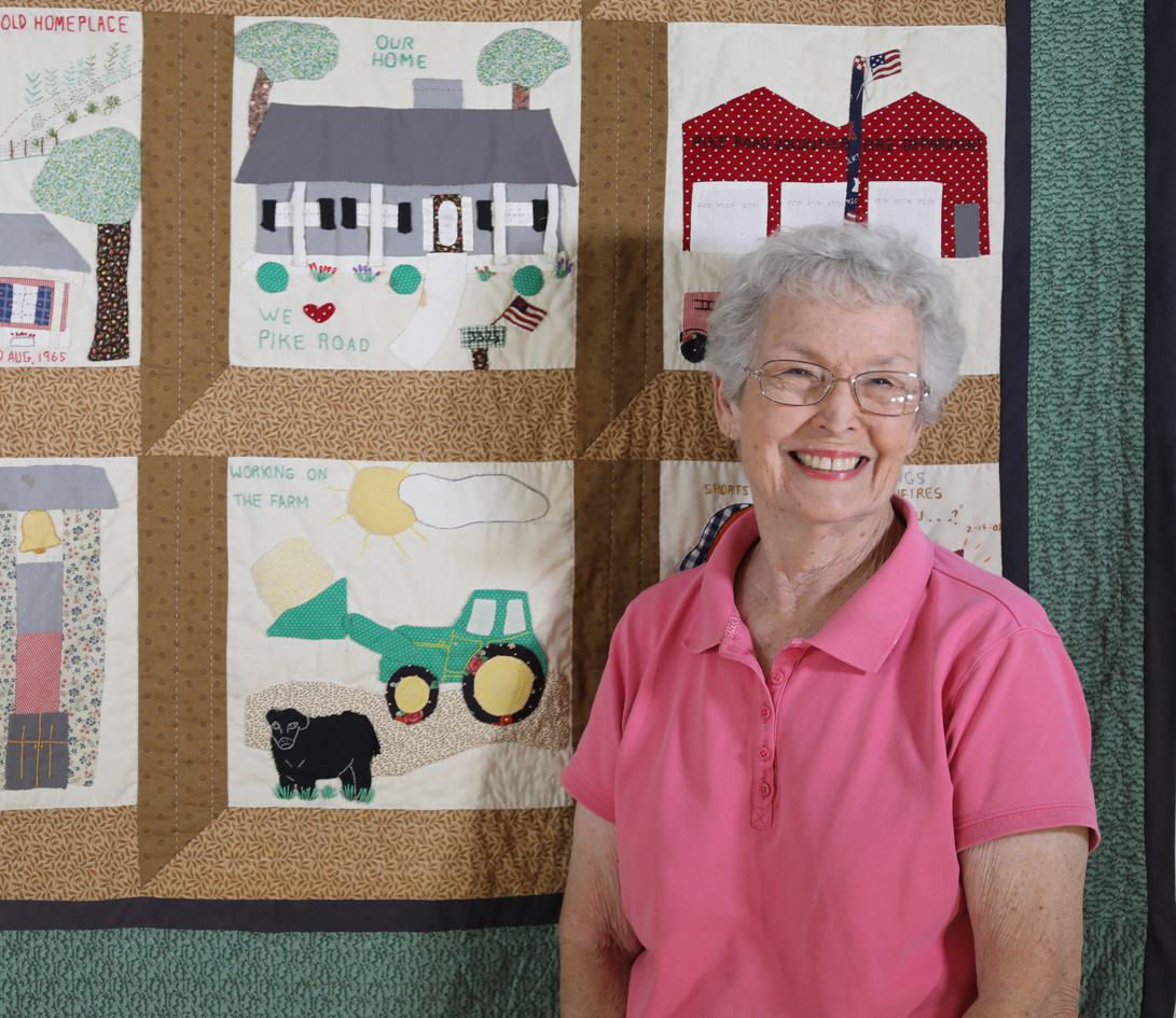 Linda Stringer and Quilt