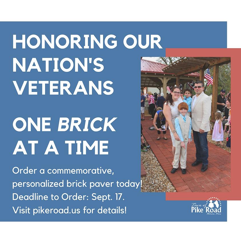 Honoring Our Veterans - Veterans Bricks Available Now!