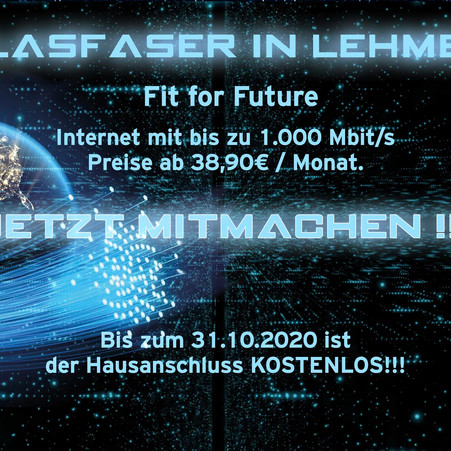 Fit for Future…. Glasfaser in Lehmen
