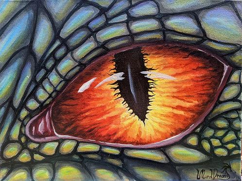 "Fire Dragon Eye, 12""/16"" Original"
