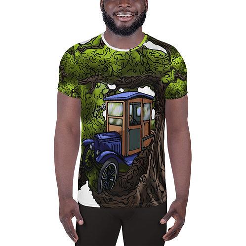 """Nostalgia"" All-Over Print Men's Athletic T-shirt"