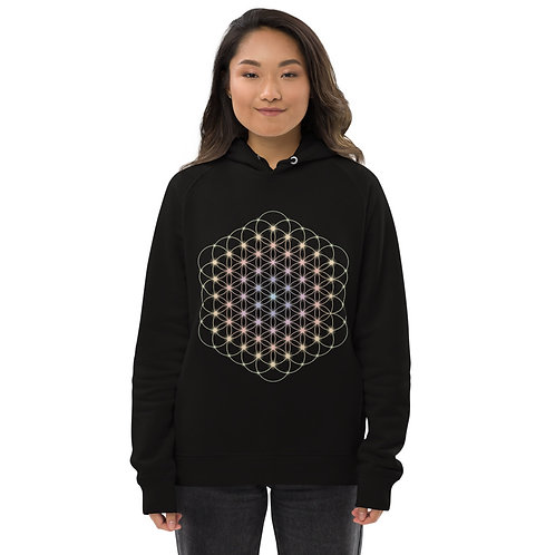 """""""Flower of Life"""" Eco-friendly, Unisex pullover hoodie"""