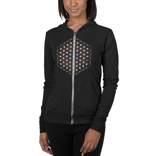 """""""Flower of Life"""" Unisex zip hoodie"""