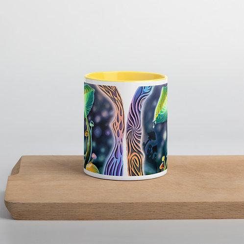 """Mushrooms"" Mug with Color Inside"
