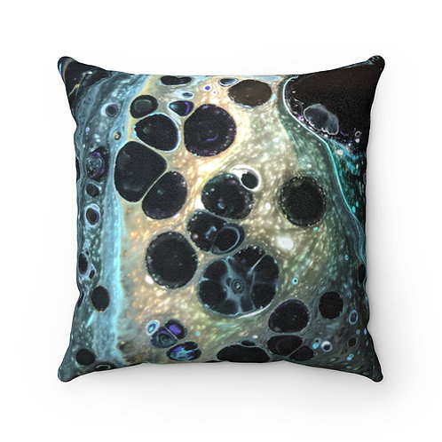 """Cosmic Foam"" Faux Suede Square Pillow"