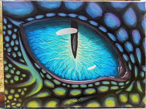 "Aqua Dragon eye, 12""/16"" Original"