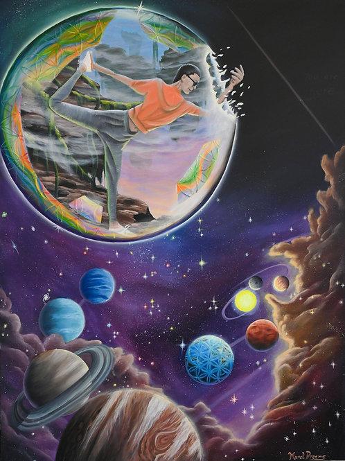 """Cosmic Yoga ORIGINAL 48""""/36"""" canvas"""