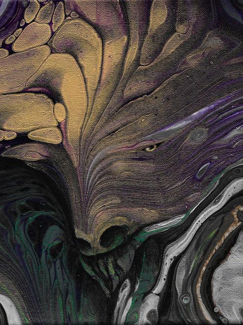 """Dapper Beast"", Original painting, 8""/10"""