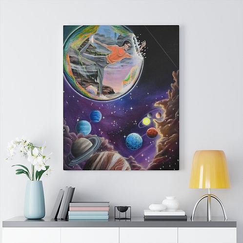 """Cosmic Yoga"" Canvas Gallery Wraps"