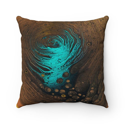 """Inner Cave"" Faux Suede Square Pillow"