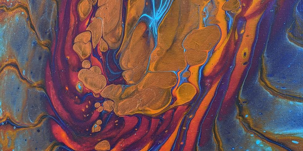 """""""Sip & Pour"""" November Flow Art Workshop"""