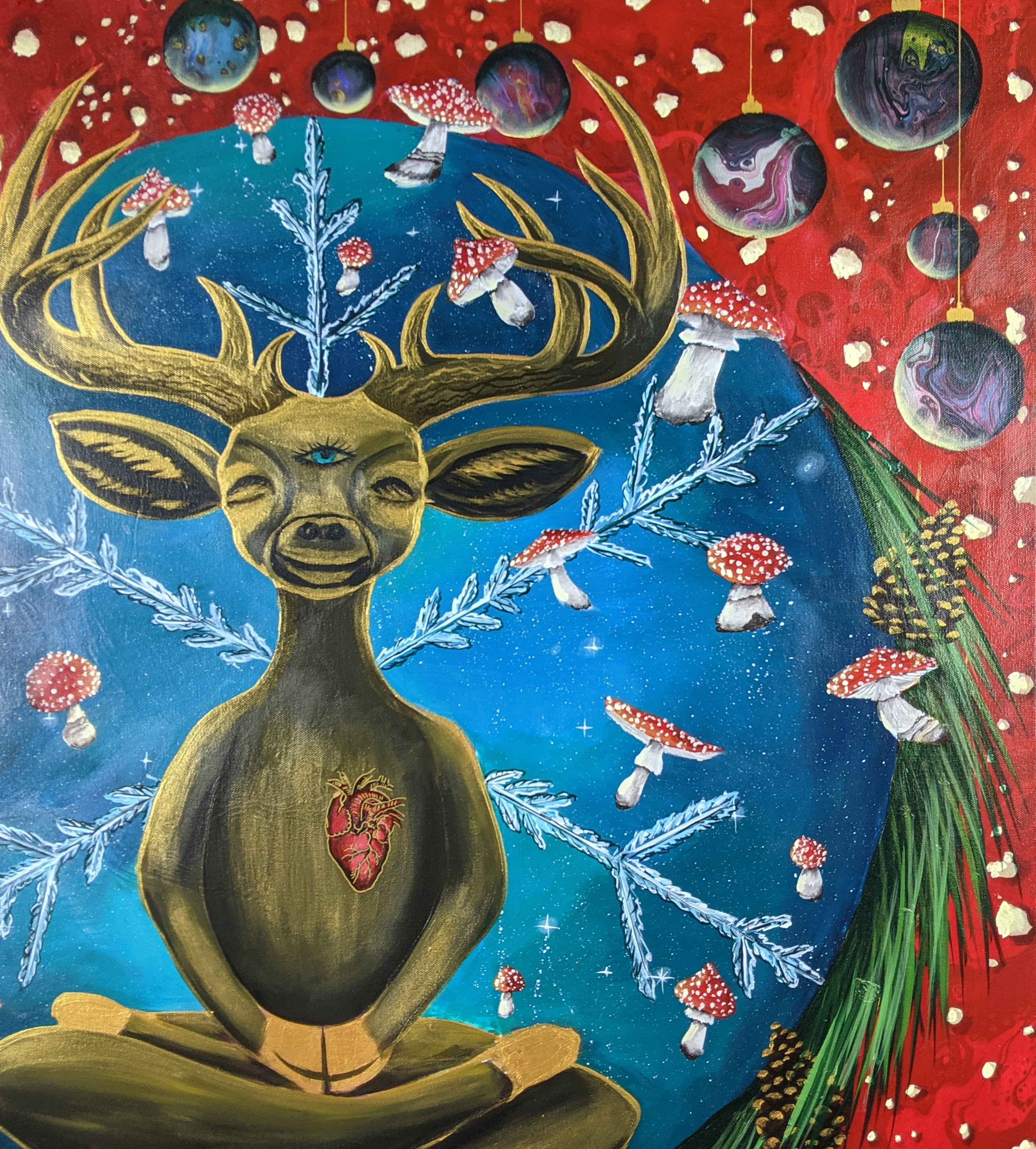 "Detail of ""Psychedelic Christmas"""