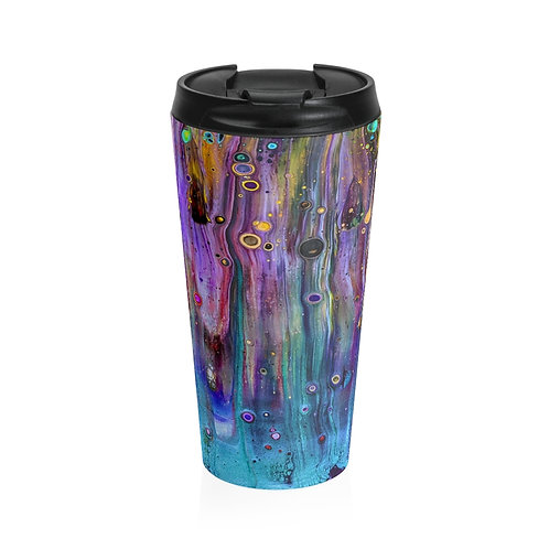 """Colorful Flow"" Stainless Steel Travel Mug"