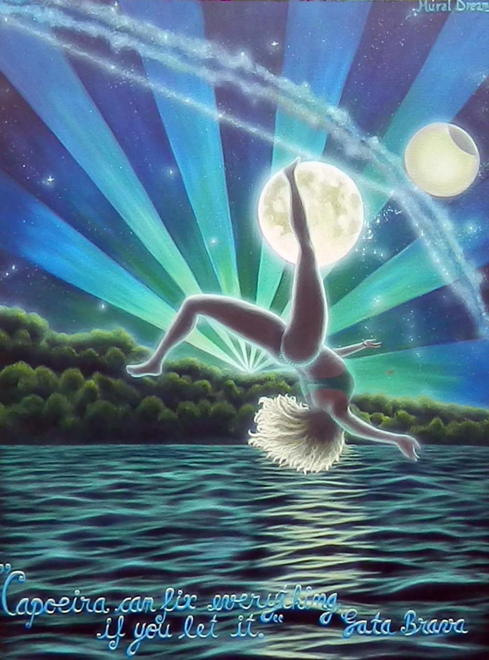 """Floating"", acrylic on canvas 36""/48"""