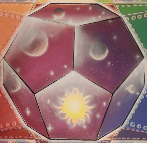 Platonic Solids Sacred Geometry mural