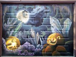 Seasonal garage door, Halloween