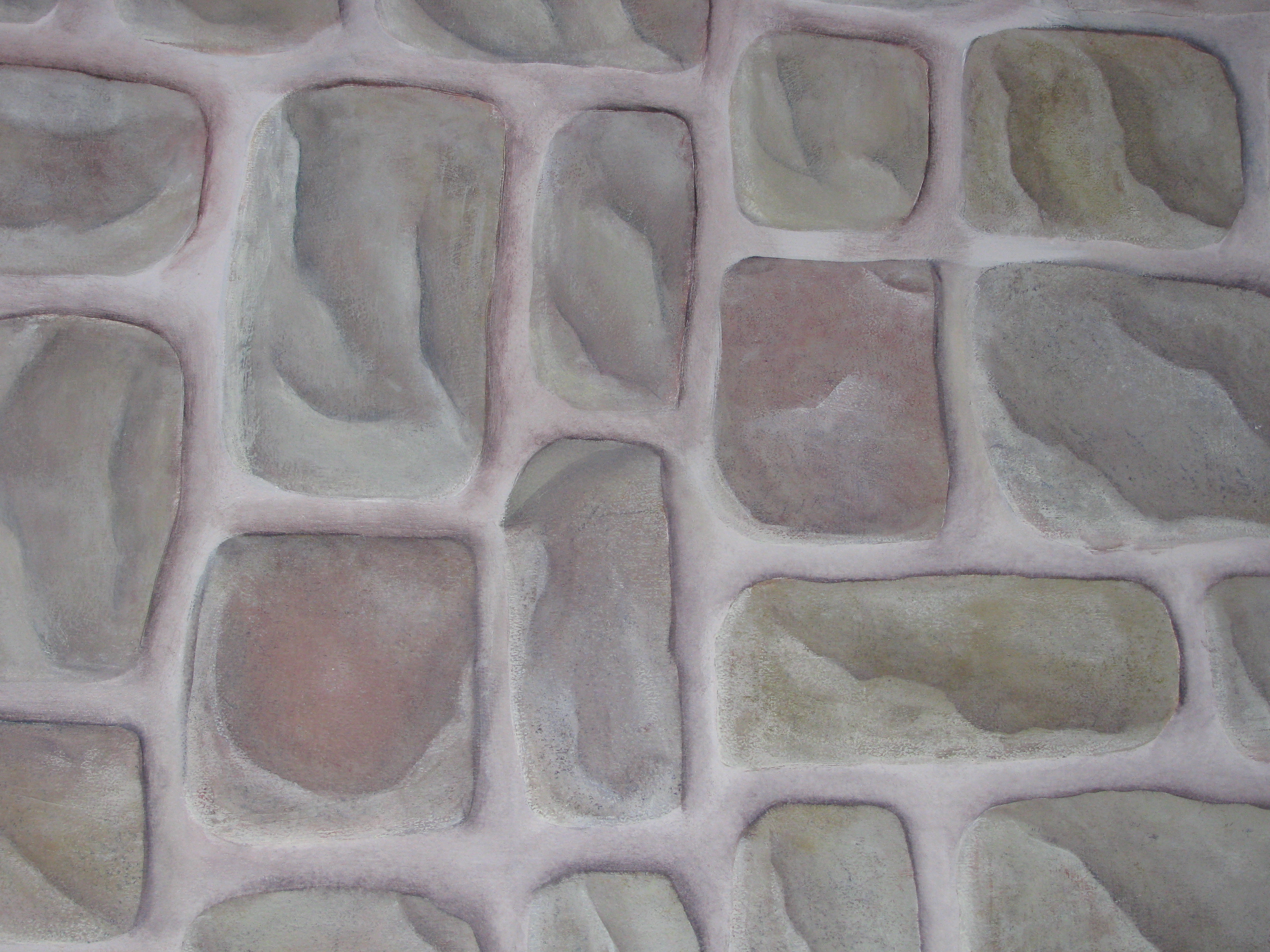 Stone faux finish