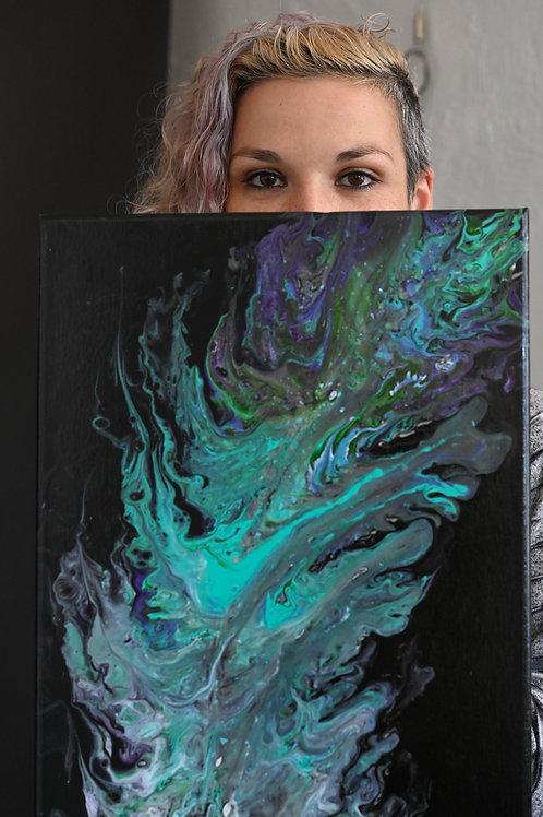 """Feather Light"", Original painting, 12'/24"""