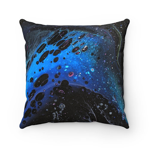 """Astronomic"" Faux Suede Square Pillow"