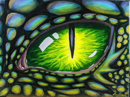 "Green Dragon Eye, 12""/16"" Original"