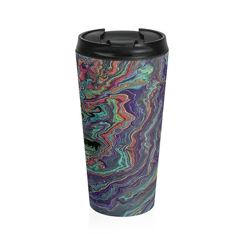 """Planetary Flow"" Stainless Steel Travel Mug"