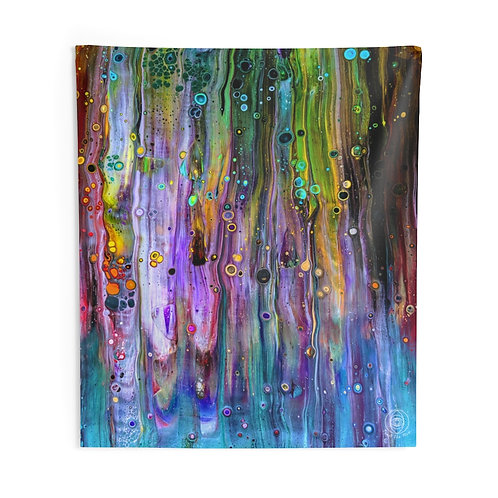 """Rainbow monsters"" Indoor Wall Tapestries"