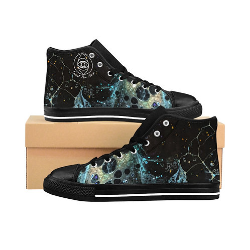 """""""Fabric of the Cosmos""""  Women's High-top Sneakers"""