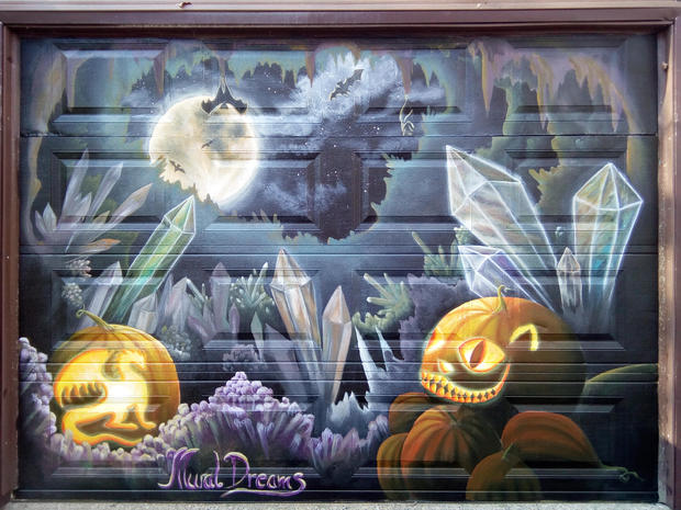 Pumpkins in a crystal cave