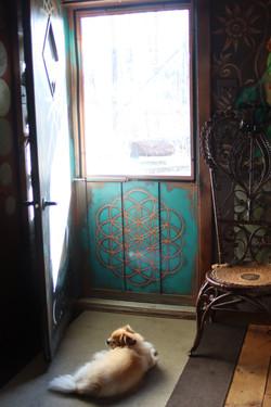 Front door screen inside