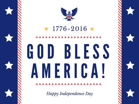 God Bless America, and America Bless God!
