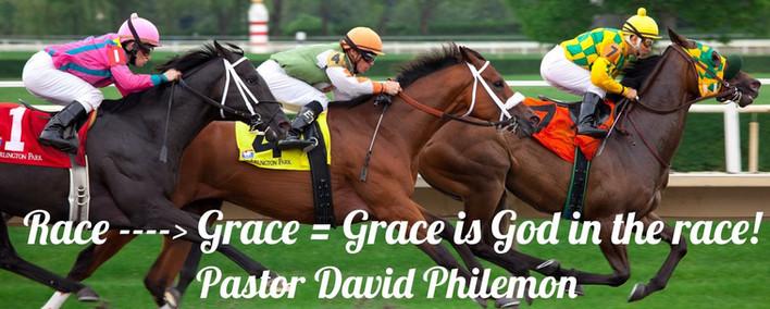 RACE----->GRACE = GRACE IS GOD IN THE RACE!