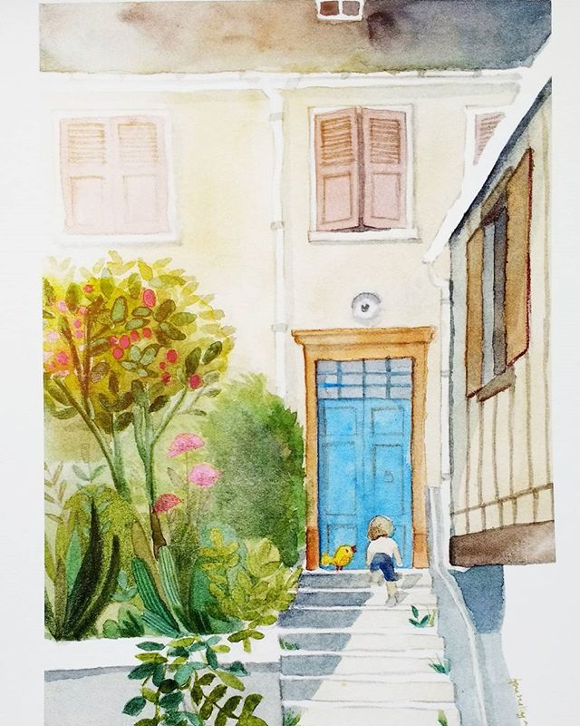 A place full of memories _#watercolor #aquarelle #escodasummercontest