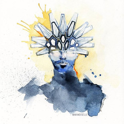 Automaton #JamiroArt. Translating _jamiroquaihq new album #funk #jazz and #dance into watercolor art