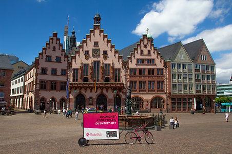 ShakeDate-Bikewerbung-Fahrradwerbung-Frankfurt am Main-Römer