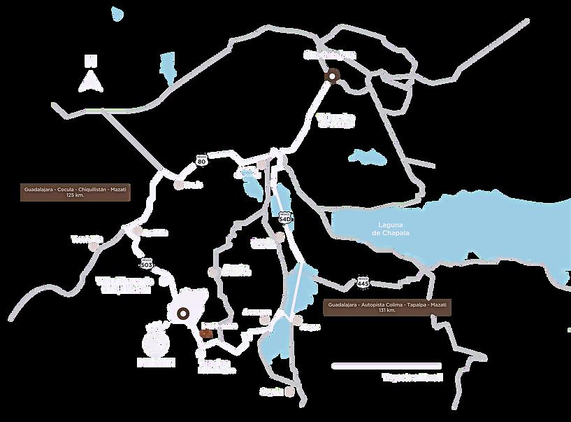 Plano de ubicación Sierra Mazati