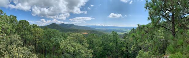 Vista de Mazati desde Cerro el Campanario