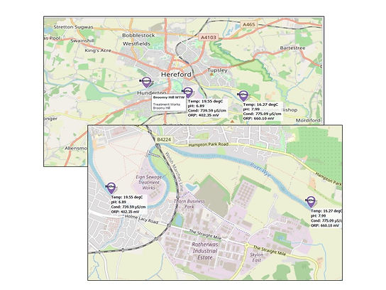 IoT monitoring river water quality on the Wye