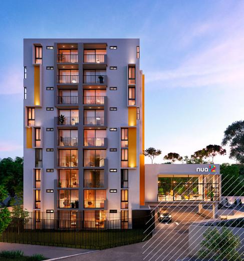 Balcón en cada apartamento